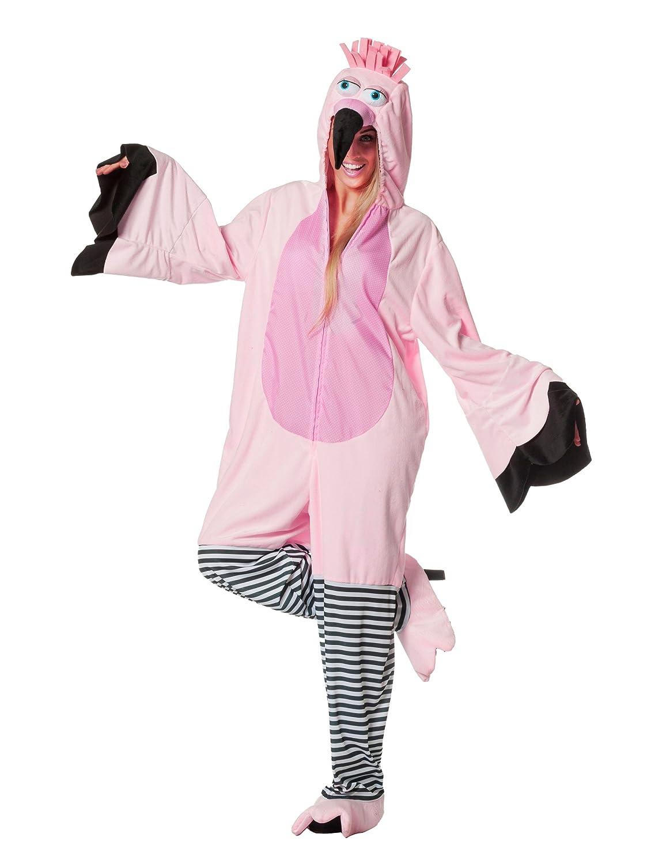 Generique Flamingo Kostüm für Erwachsene Overall M (40)