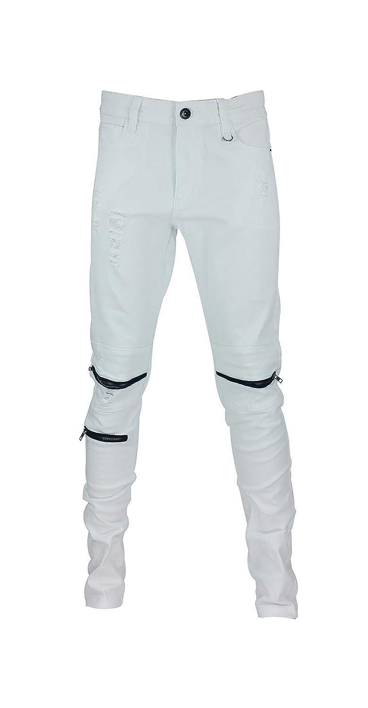 Men's Piping zippers Skinny Pants