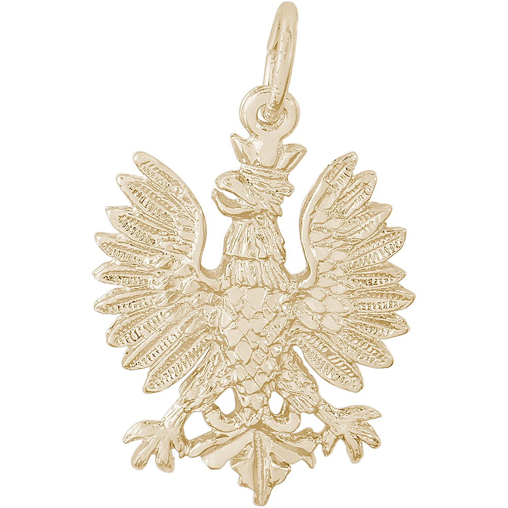 Rembrandt Charms 10K Yellow Gold Polish Falcon Charm (0.87 x 0.76 inches)