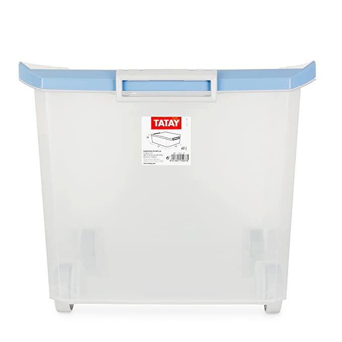 Amazon.com: Tatay 1150307 - Multi-Purpose Box with Wheels, 36.2 x 56.5 x 40 cm, Blue: Kitchen & Dining