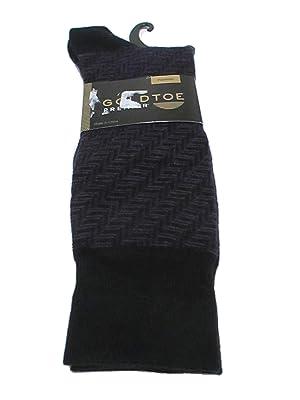 Gold Toe Mens Cotton Blend Perfect Fit Trouser Socks Black 10-13