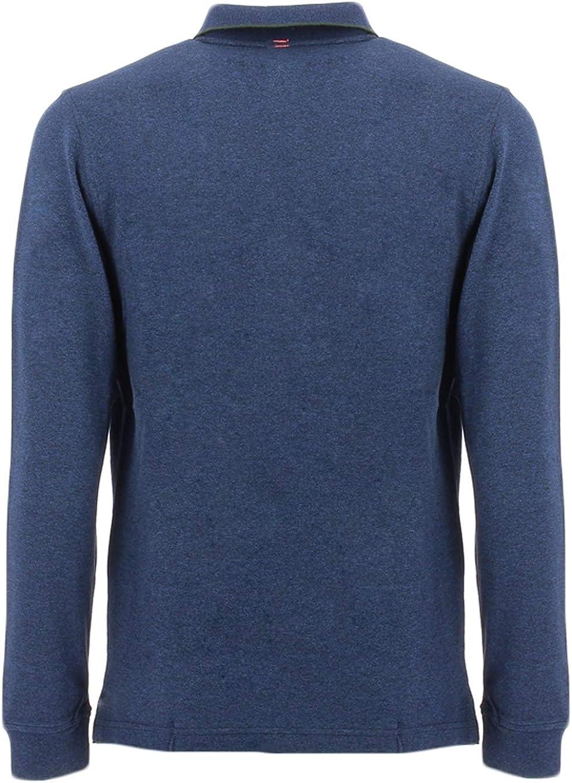 SUN68 Blue m/élange Polo Shirt