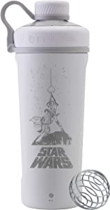 BlenderBottle Star Wars Radian Insulated Stainless Steel Shaker Bottle Stocking Stuffer, 26-Ounce, Luke - Leia Retro