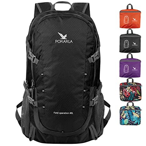 Online-Verkauf Kundschaft zuerst ziemlich billig POKARLA 22/35/40L Lightweight Packable Backpack Hiking Daypack Walking  Rucksack Foldable Camping Sports Outdoor Knapsack for Women Men