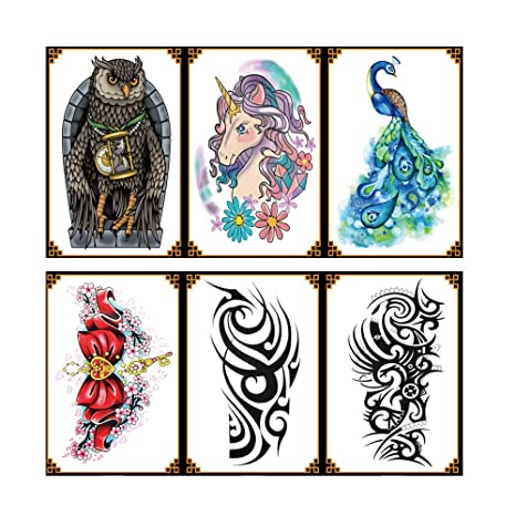 vantattoo (6sheets) Fashion Body Art Pegatinas extraíble ...