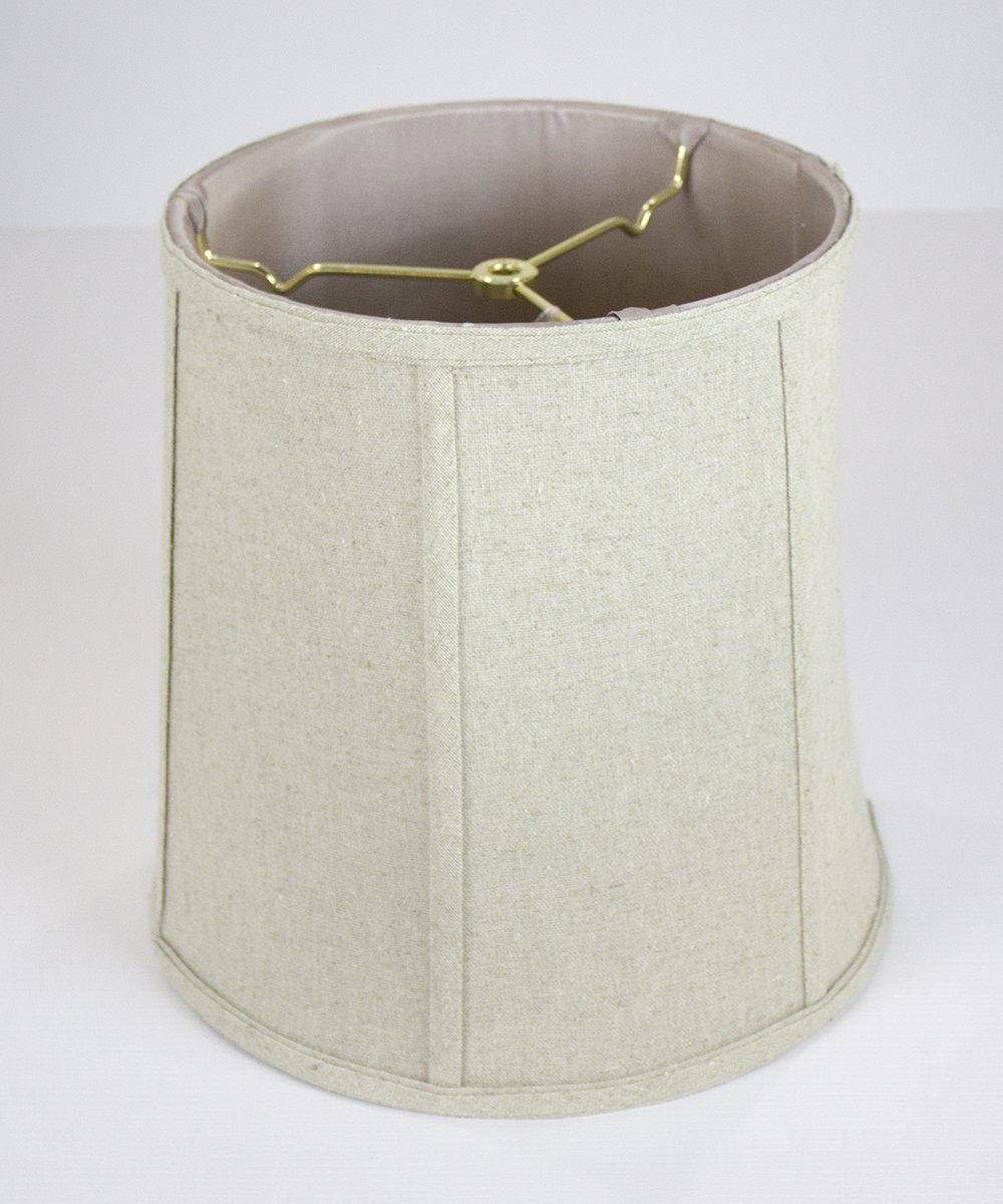 10x12x12 Sand Linen Fabric Empire Shantung Lampshade with Brass Spider fitter By Home Concept - Perfect for table and desk lamps - Medium, Tan