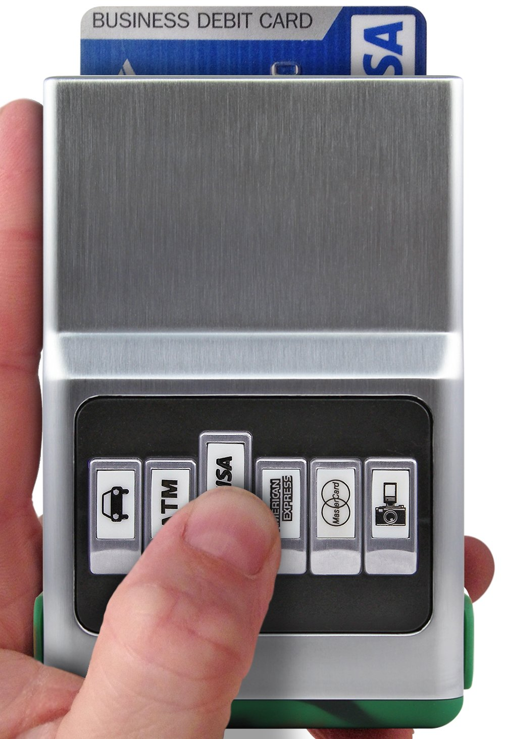 ACM Wallet Credit Card Holder - Front Pocket Organizer, Easy Push Button Use 101HS