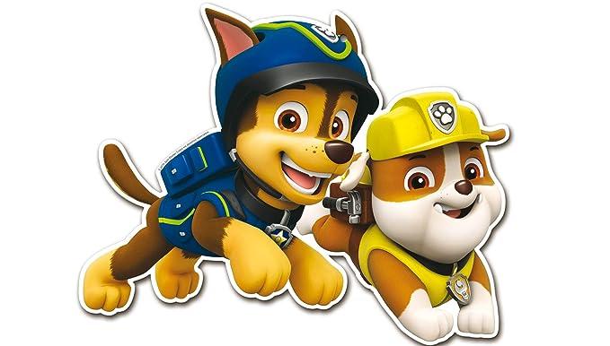 Patrulla Canina 0886, Pack 4 Siluetas 30 cms, Paw Patrol, para Decoracion de Fiestas y cumpleaños