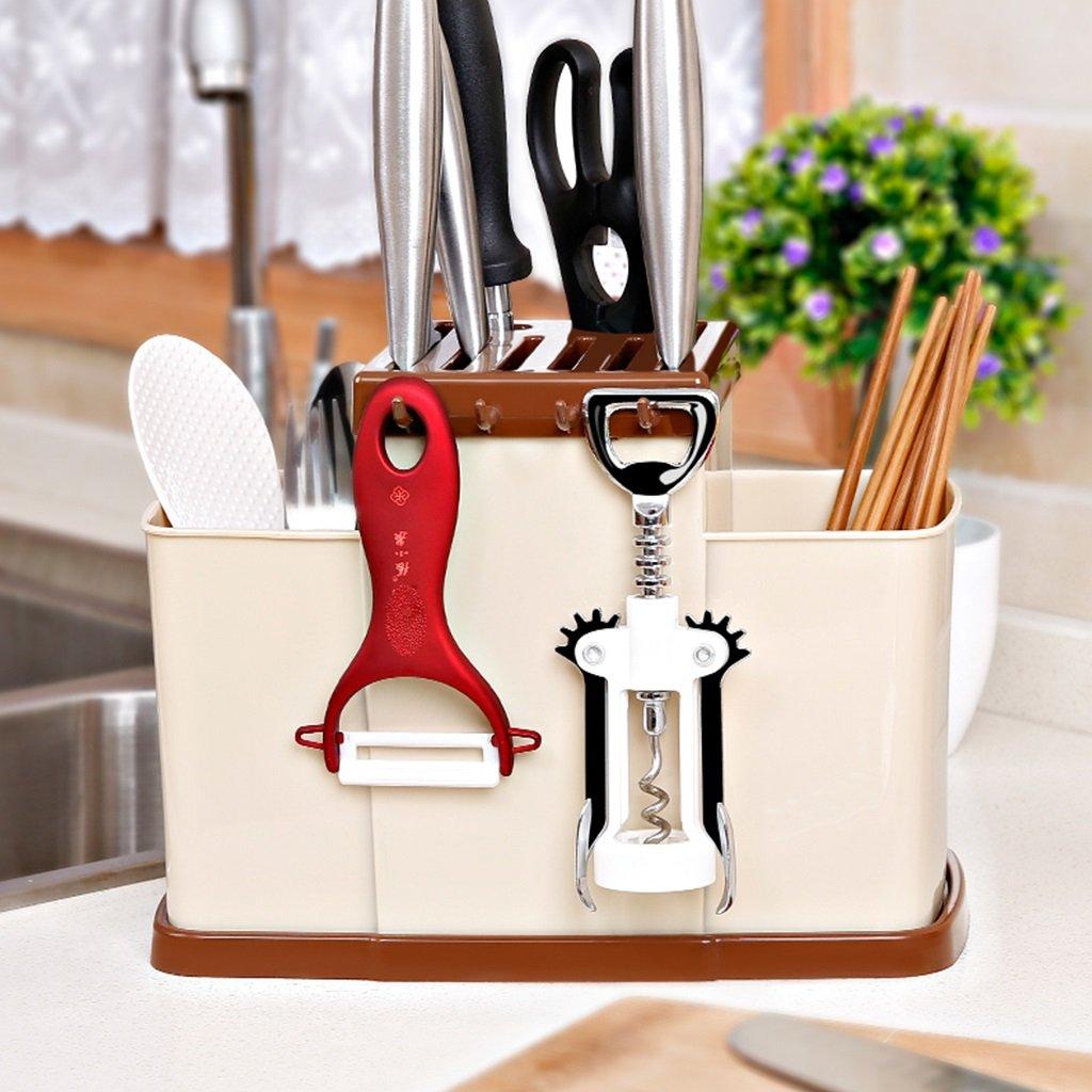 Amazon.com: Kitchen supplies rack knife holder thick plastic ...