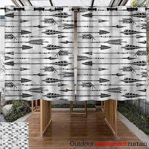Sunnyhome Cortina para Puerta corredera, diseño Retro, triángulo, Resistente al Agua, Panel para Puerta de Patio: Amazon.es: Jardín