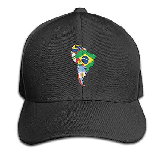 Map Of America Looks Like A Duck.Men Women South America Flag Map Outdoor Duck Tongue Hats Adjustable