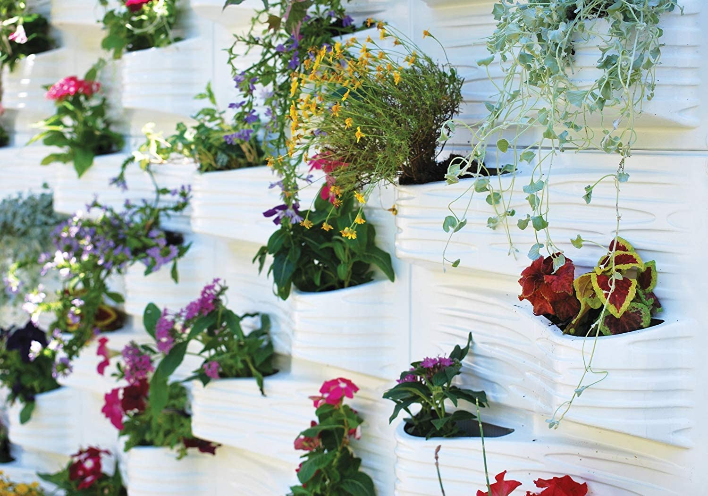 S&M Scape Blanco Jardín Vertical Plant Scale, 11.5x53x58 cm