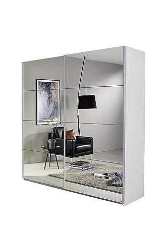 Schwebetürenschrank spiegelfront  Rauch Schwebetürenschrank-Kleiderschrank mit Spiegelfront, Korpus ...