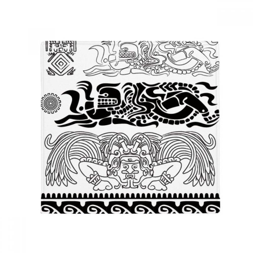 DIYthinker Ancient Egypt Abstract Art Decorative Pattern Anti-Slip Floor Pet Mat Square Home Kitchen Door 80Cm Gift