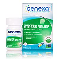 Genexa Stress Relief - 60 Tablets | Certified Organic & Non-GMO, Physician Formulated...