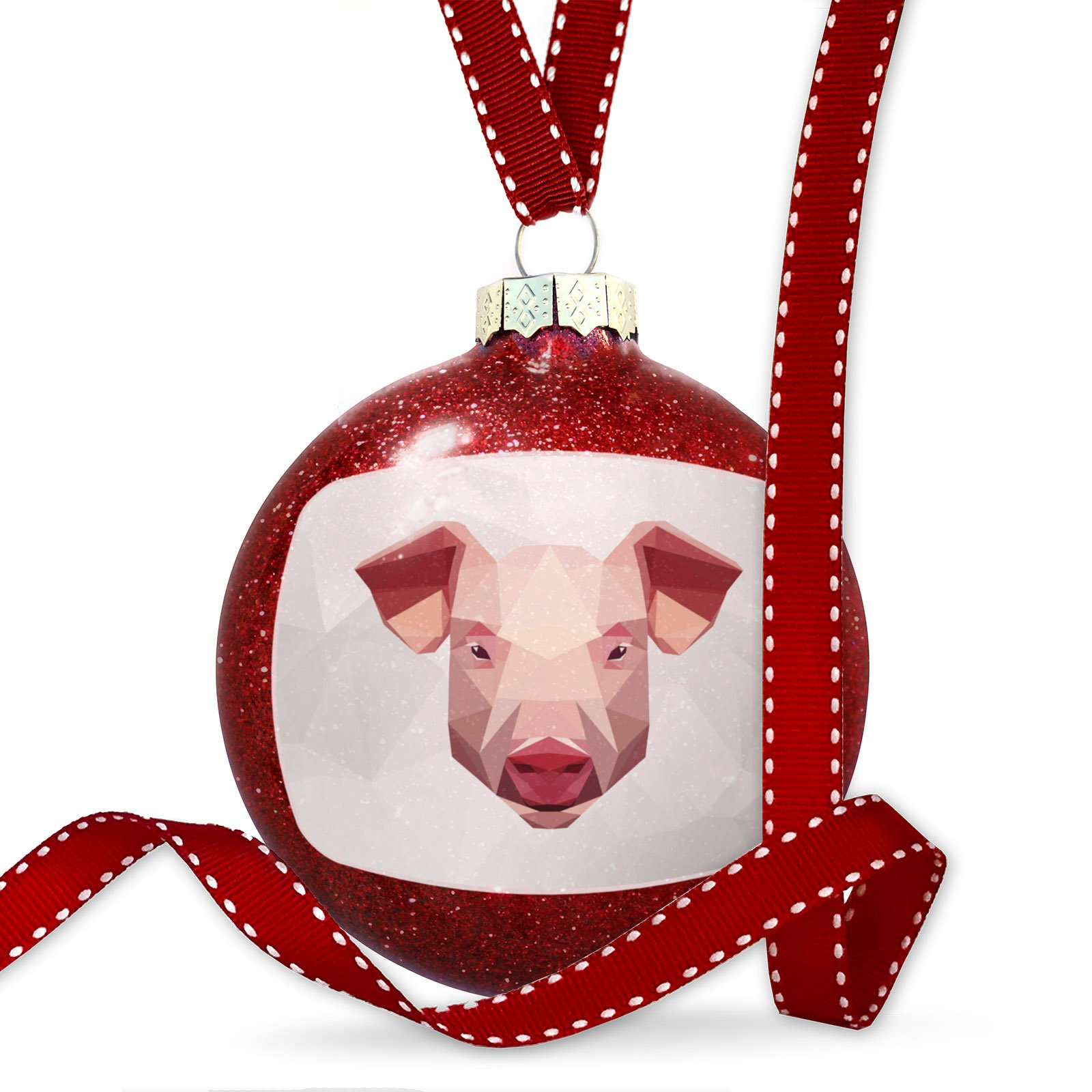 Christmas Decoration Low Poly zoo Animals Pig Ornament