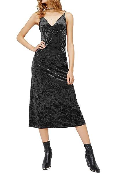 R.Vivimos Women Spaghetti Strap V Neck Sexy Long Dresses at Amazon ... b1747c46c96e