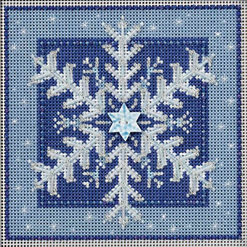 Buttons Beads Mill Hill - Crystal Snowflake Beaded Counted Cross Stitch Kit Mill Hill Buttons & Beads 2016 Winter Series MH141635