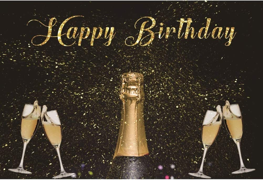 Amazon Com Dorcev Happy Birthday Backdrop Adult Theme Birthday Party Adult Birthday Prom Background Shiny Glitter Champagne Wine Glass Birthday Paert Cake Table Banner Adult Bierhday Photo Studio Props Camera Photo