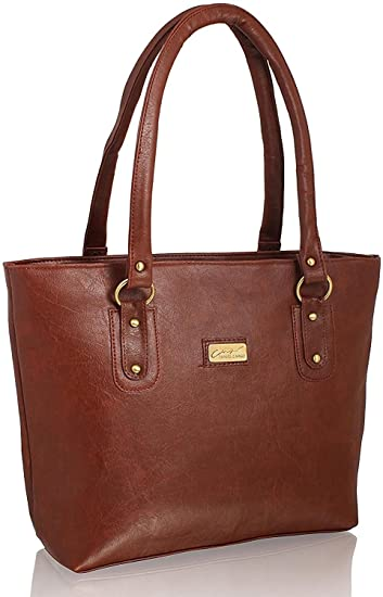 f27f676513f3 Buy TrendCreations Women s Leather and ABS Handbag (Brown) Online at Low  Prices in India - Amazon.in
