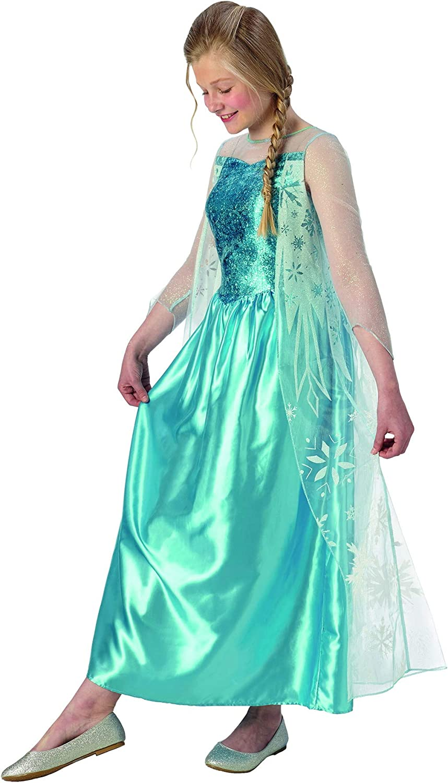 Halloweenia Disfraz clásico de Frozen de Elsa para niña, Vestido ...