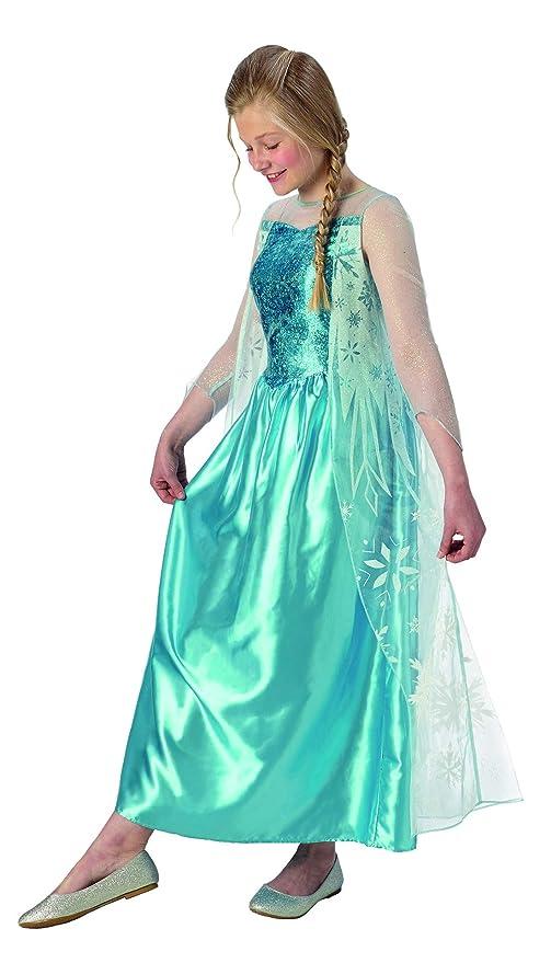 bf231aae2a41 Halloweenia – Costume da Bambina Elsa Frozen Classic con Vestito da  Principessa e Mantello, Perfetto