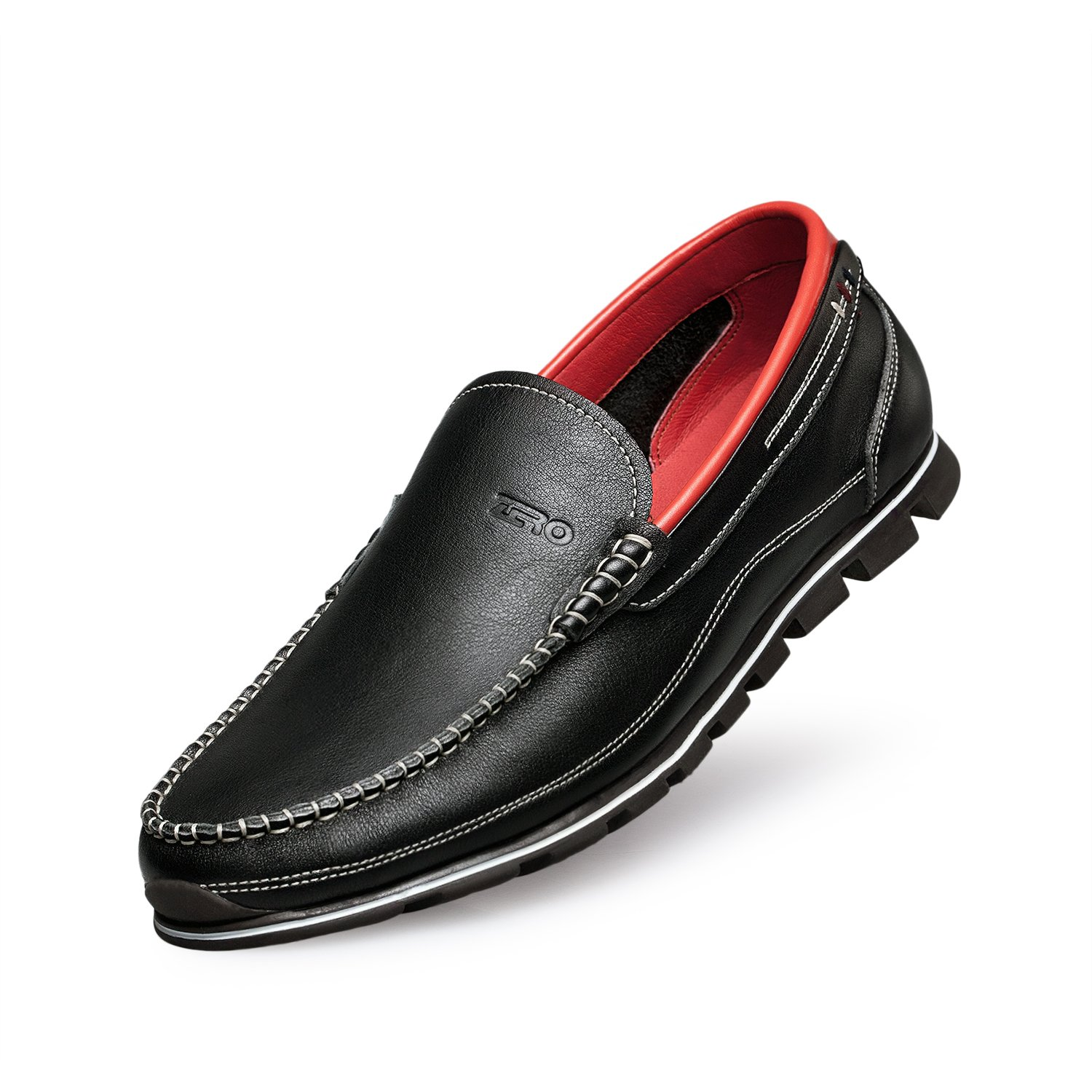 ZRO Men's Classy Black Penny Slip-on Loafer for Driving Working Walking Dress Running 10 M US by ZRO (Image #1)