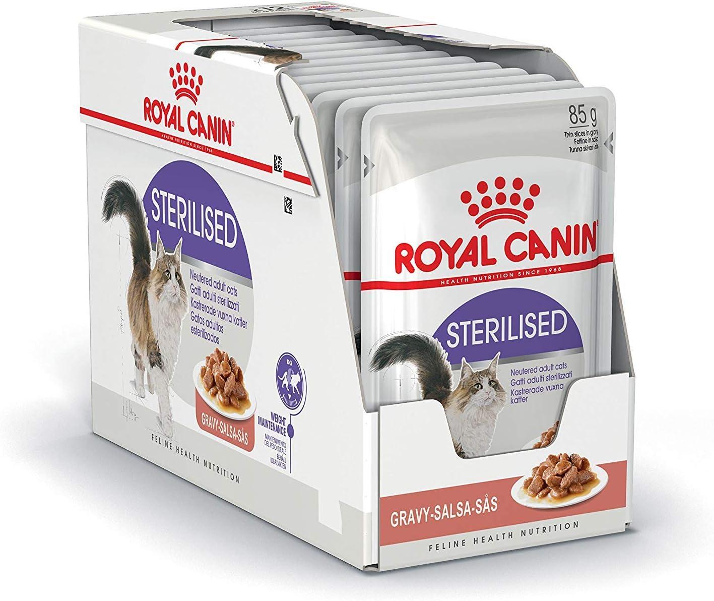 ROYAL CANIN Sterilised Comida para Gatos - Paquete de 12 x 85 gr ...