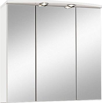 Held Möbel, Armadietto da bagno con specchio, 3 ante, 70 x 69 x 20 ...