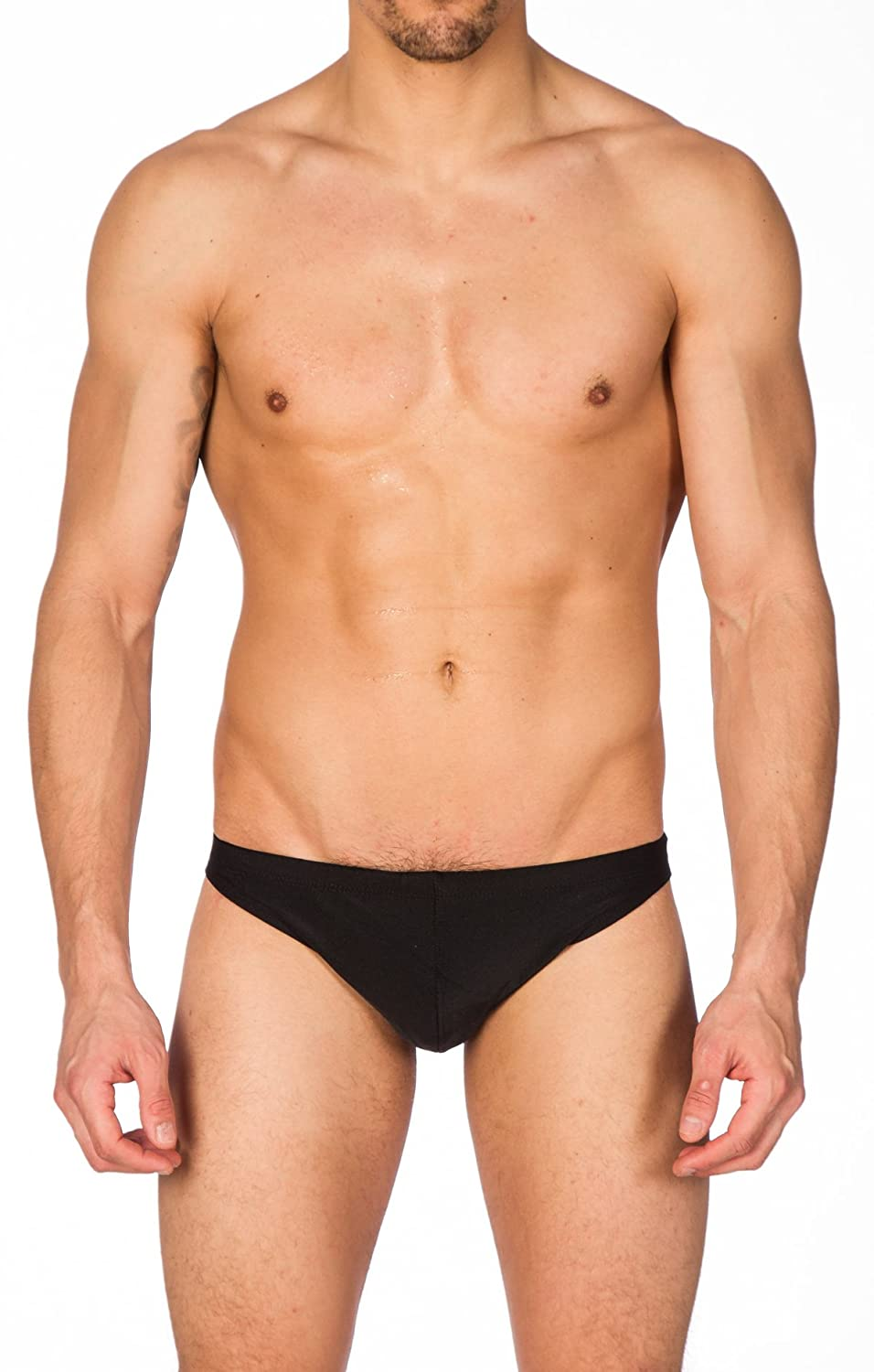 d8adcaf3a0 Amazon.com: Gary Majdell Sport Men's Greek Bikini Swimsuit with Contour  Pouch: Clothing