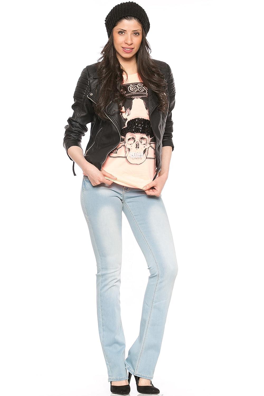 Rubberband Stretch Women's Bootcut Jeans (Sarina/Skylight)