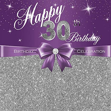 Amazon 30th Birthday Women Background 5x7ft Elegant Purple