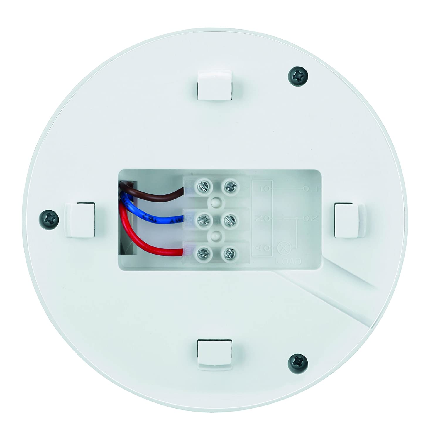 MANAX IMS020 Detector de Movimiento infrarrojo de Techo - Montaje en Interior, Clase de protección: IP20, Campo de Trabajo de 360 ° / 6 m, ...