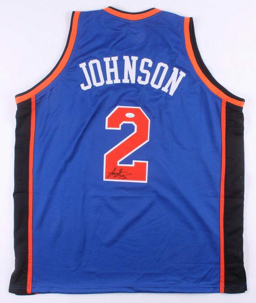 info for c3da8 f8d8b Signed Larry Johnson (NBA) Jersey - Custom new York Knicks ...