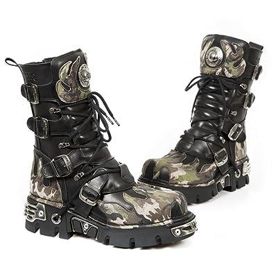 New Rock Men s Black Flame Boots Reactor M.591-S15 EU 42 3457d4f24