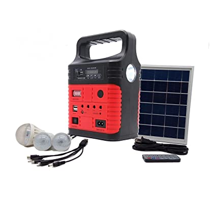 Portable Solar Generator With Solar Panel,Included 3 Sets LED Lights,Solar  Power Inverter