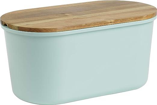 Echtwerk caja de panera de melamina para guardar pan con tapa ...