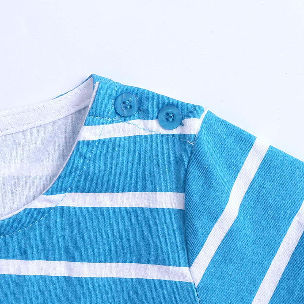 JUTOO M/ädchen kleidet Baby stereoskopische Karikatur Druck beil/äufige Kleid Kurzschluss H/ülsen Kleidung