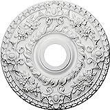 Ekena Millwork CM18RO 18-Inch OD x 3 1/2-Inch ID x 1 1/2-Inch P Rose Ceiling Medallion