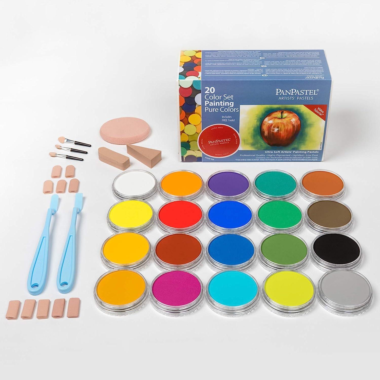 PanPastel Pure Colours Pastels pour artistes Set de 20 couleurs (Import Royaume Uni) Basique