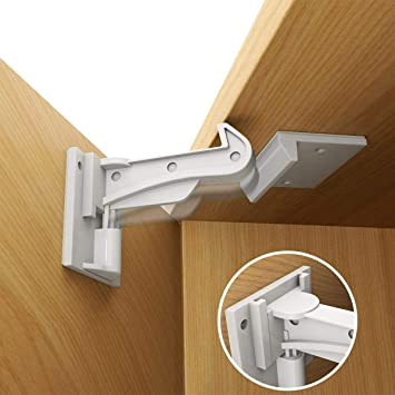 UPGRADED Design Invisible Magnetic Safety Home Proof Cupboard Door Drawer Lock