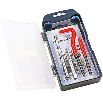 Highking Tool Thread Repair Kit, M8 x 1.0 mm Thread Repair Insert Kit Compatible Hand Tool Set for Auto Repairing M8-1.0: Automotive