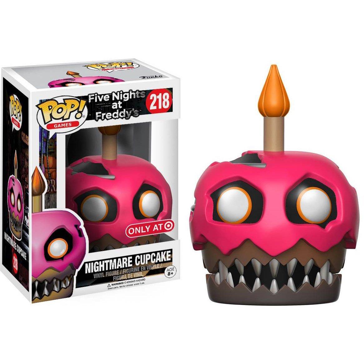 : Five Nights at Freddys x Funko POP Target Exclusive BCC94092P #218 // 13736 - B Nightmare Cupcake Games Vinyl Figure /& 1 PET Plastic Graphical Protector Bundle