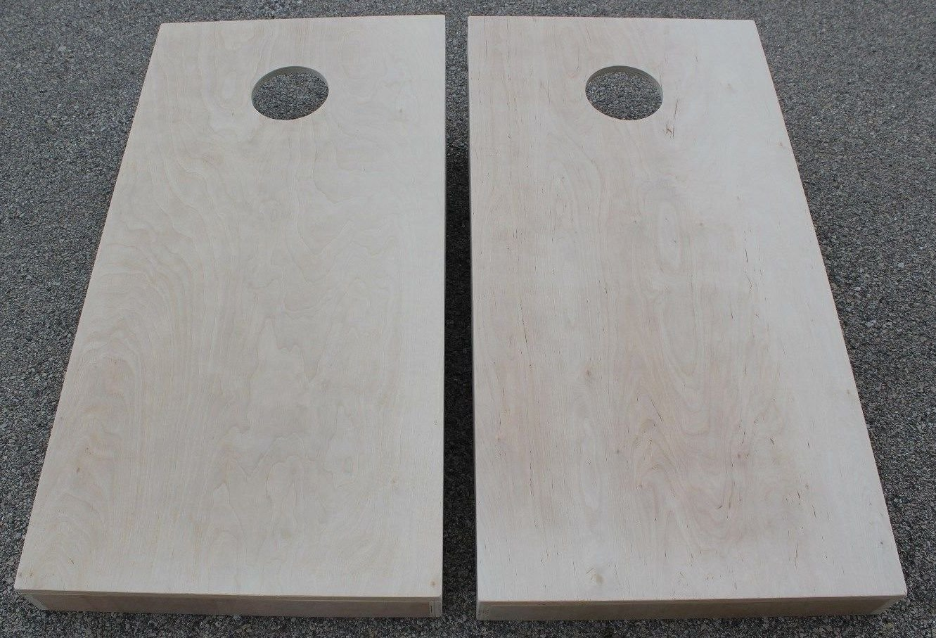 UNFINISHED CORNHOLE BOARDS BEANBAG TOSS GAME SET w ''pick your colors'' bags by BackYardGamesUSA