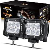 """Auxbeam LED Light Bar 4"""" 18W LED Pods 1800lm Flood Beam Driving light Off Road Lights for SUV ATV UTV Trucks Pickup Jeep Lamp (Pack of 2)"""