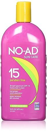No AD Sunscreen Lotion SPF 15 – 16 oz – 2 pk