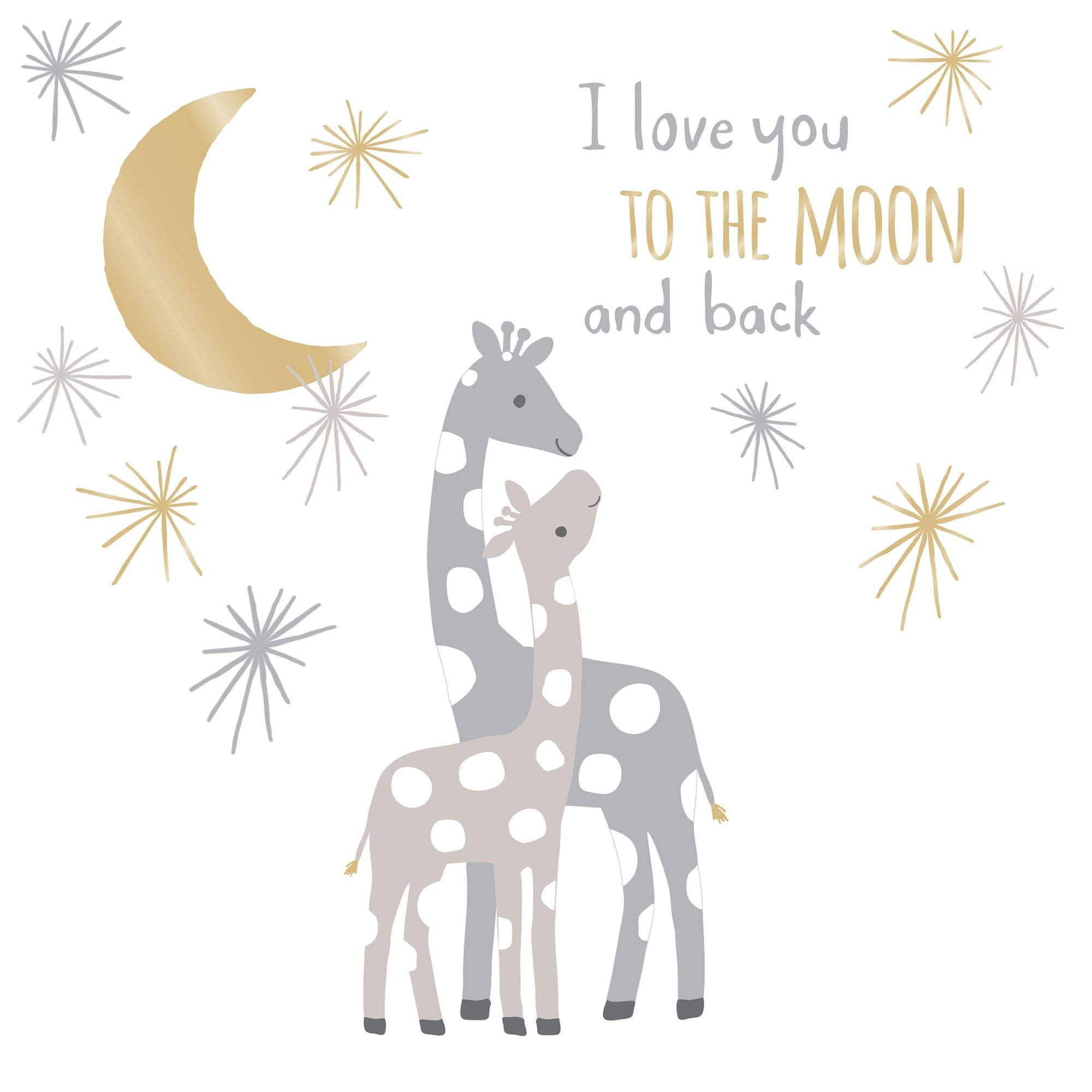 Lambs & Ivy Signature Moonbeams Wall Decals/Appliques - Gray, Gold, Animals by Lambs & Ivy