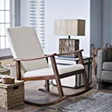 Belham Living Holden Modern Indoor Rocking Chair - Upholstered - Buttercream