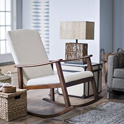 Charmant Belham Living Holden Modern Indoor Rocking Chair   Upholstered   Buttercream