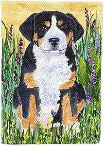 Caroline's Treasures SS8217GF Greater Swiss Mountain Dog Flag Garden Size, Small, Multicolor